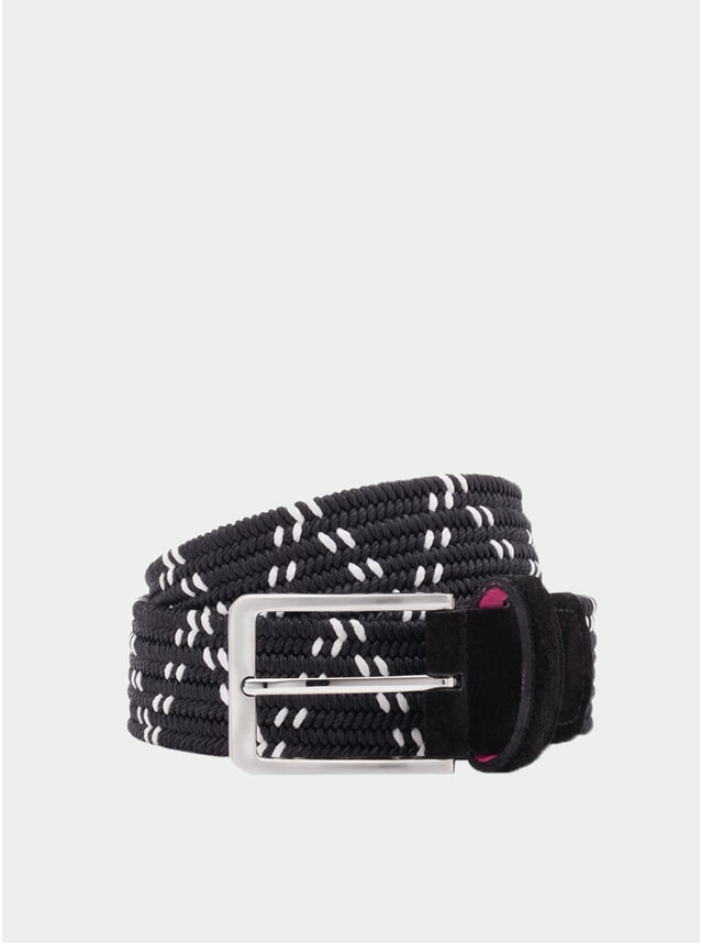 Black / White Double Helix Belt