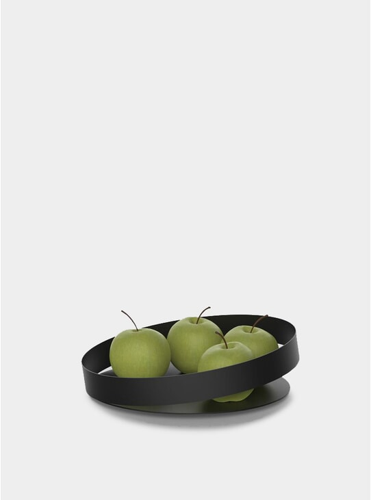 Black Orbis Fruit Bowl