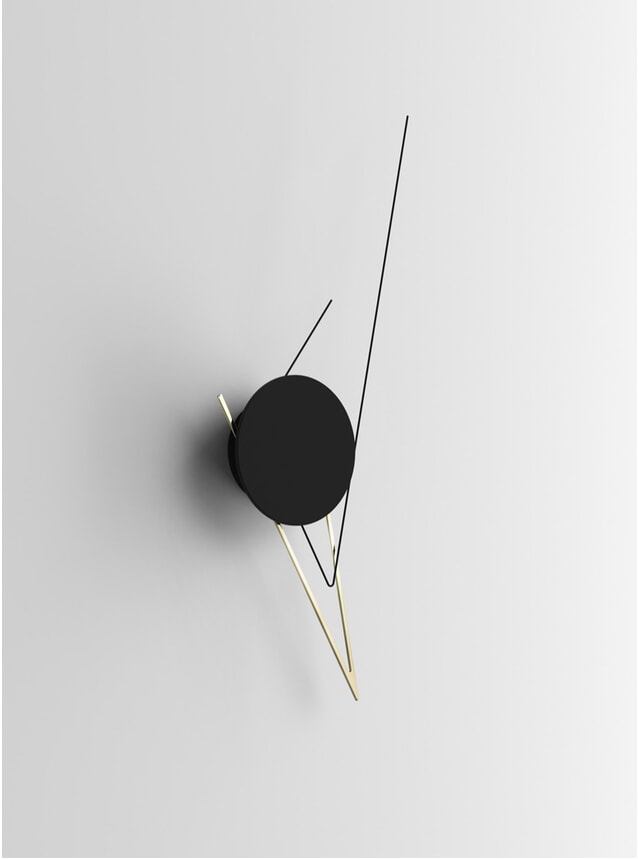 Gold Silo Wall Clock