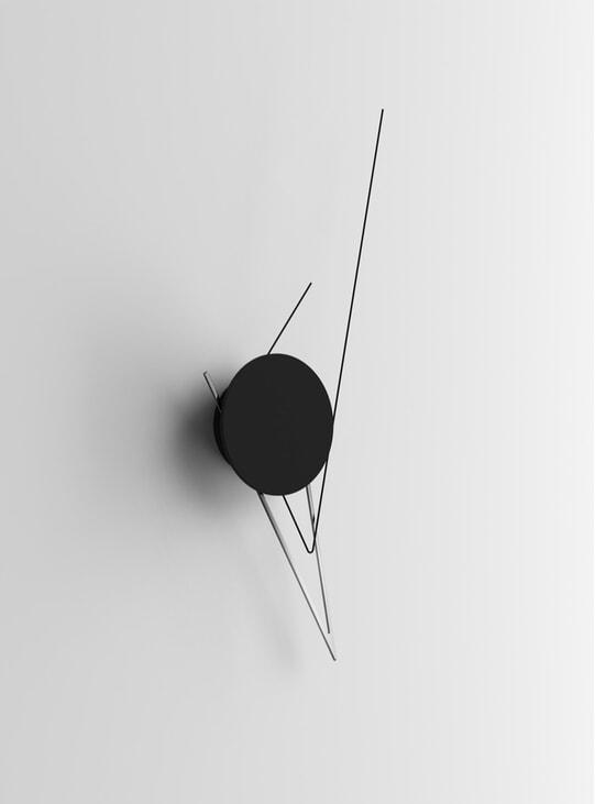 Silver Silo Wall Clock