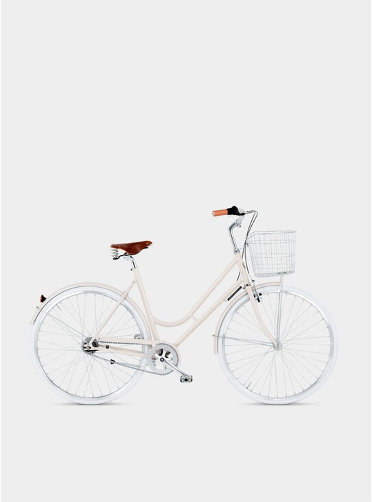 Pale Beige Step-Through 7 Bicycle