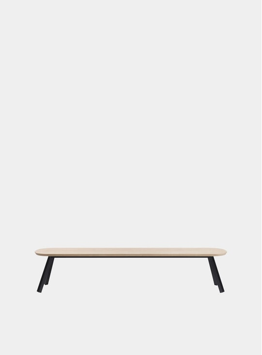 Black / Oak You & Me Bench