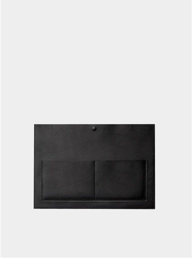 Black Leather Laptop Sleeve
