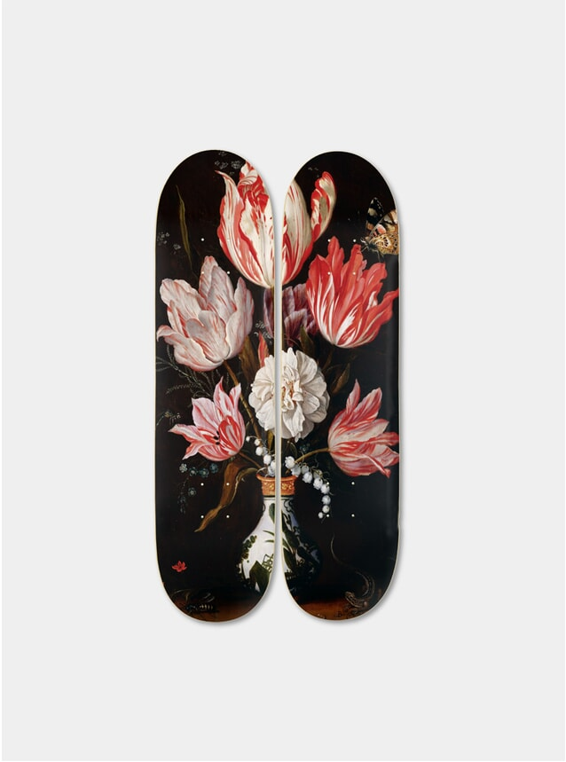 Flowers Diptych Skateboards