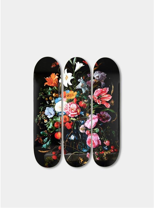 Flowers Triptych Skateboards