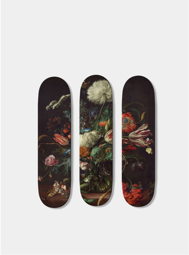 Flowers Triptych Skateboards
