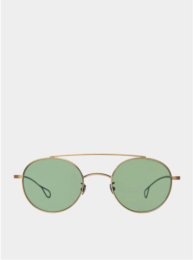 Brass / Bottle Green Drill Sunglasses