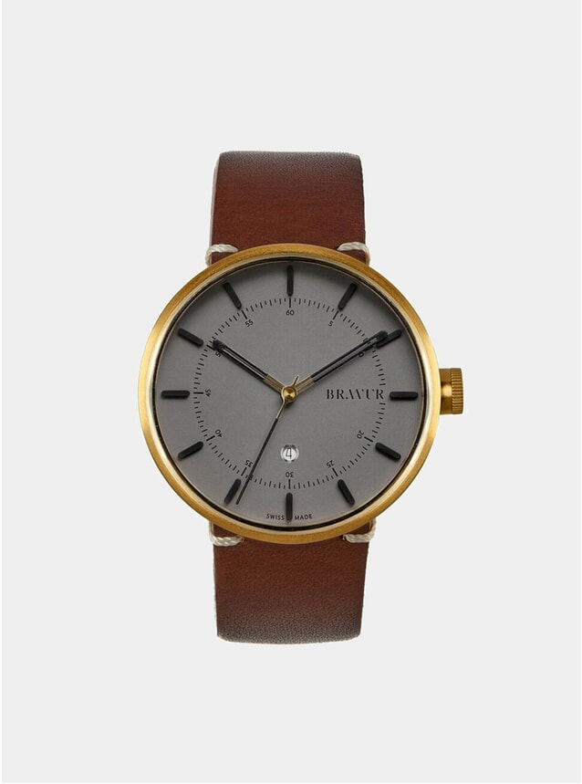 BW002 Gold / Grey Watch
