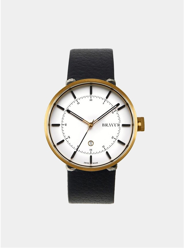 BW002 Gold / White Watch