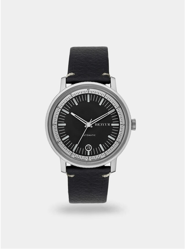 Black / Black w/ Contrast Stitching BW003 Watch
