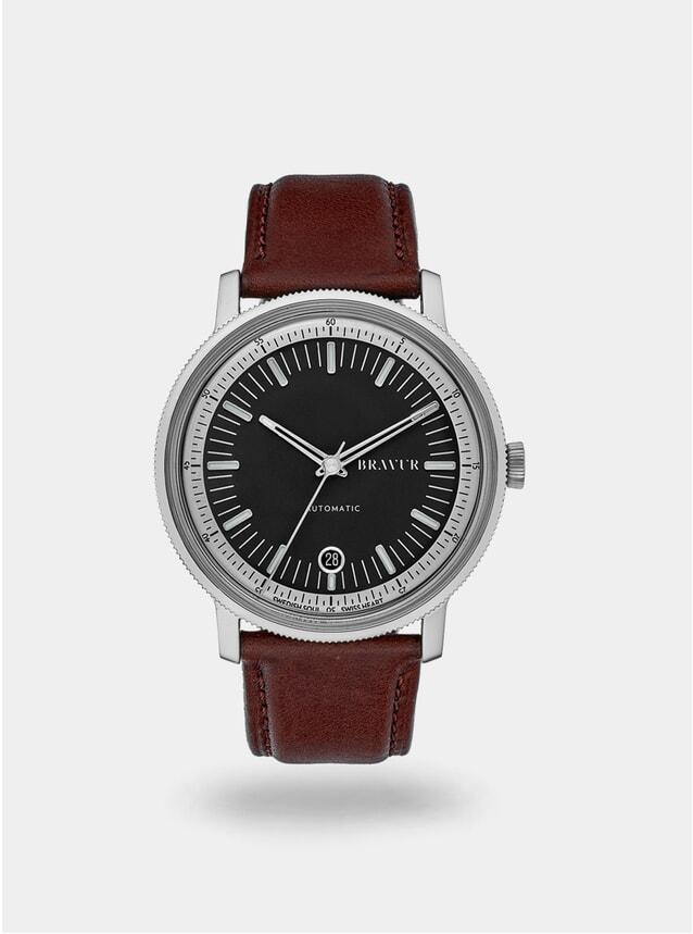 Black / Brown BW003 Watch
