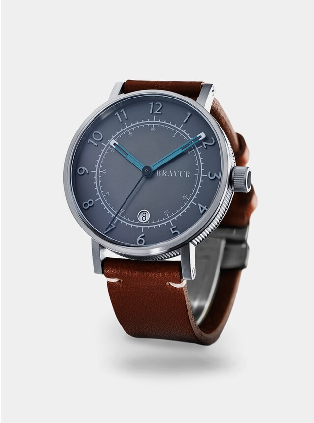 Grey / Tan BW001 Watch