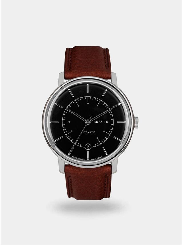 Jet Black / Brown Scandinavia Watch