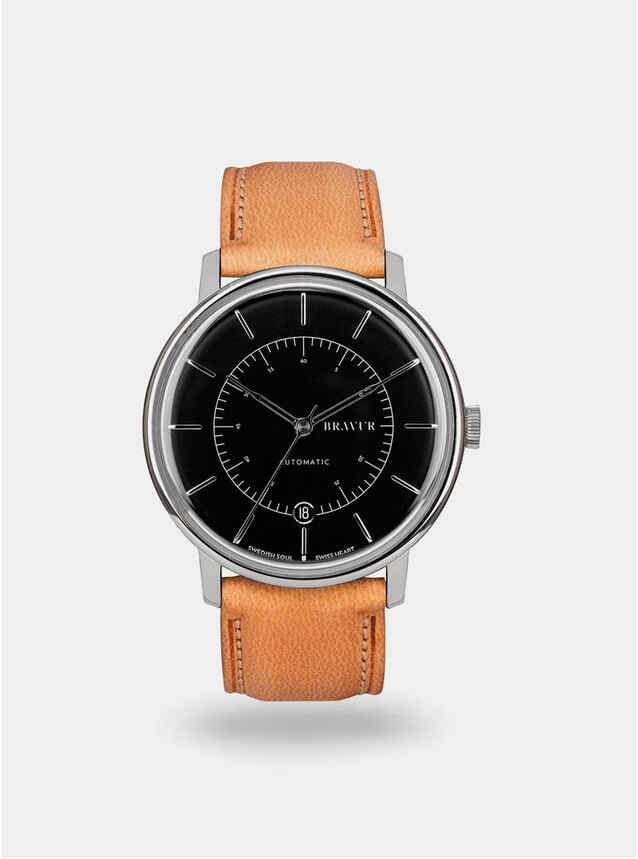Jet Black / Tan Scandinavia Watch