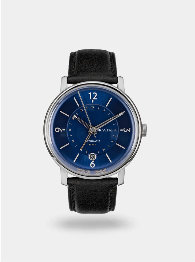 Midnight Blue / Black Georgraphy Watch