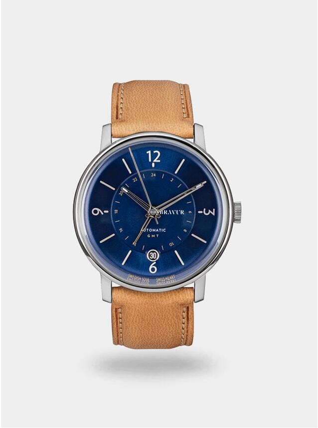 Midnight Blue / Tan Georgraphy Watch
