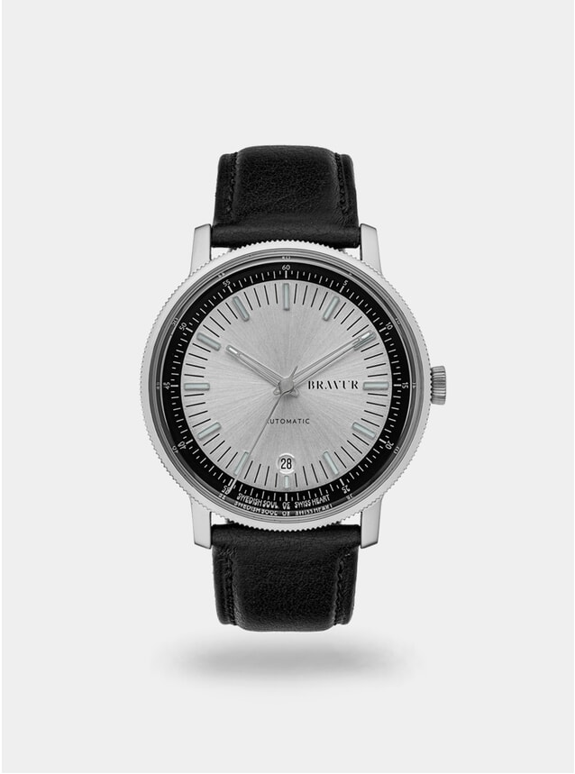 Silver / Black BW003 Watch