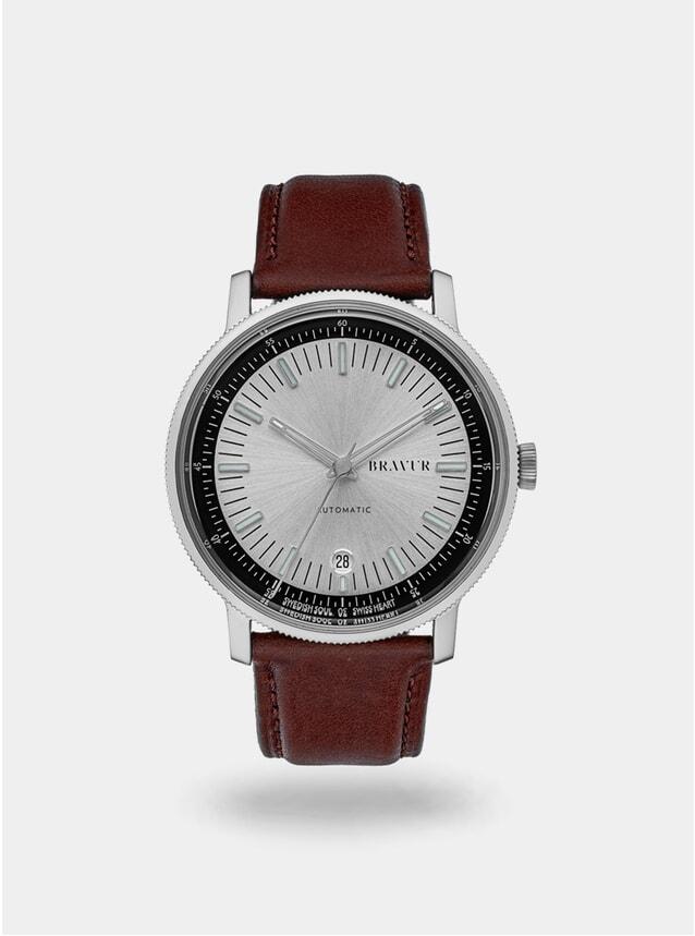 Silver / Brown BW003 Watch