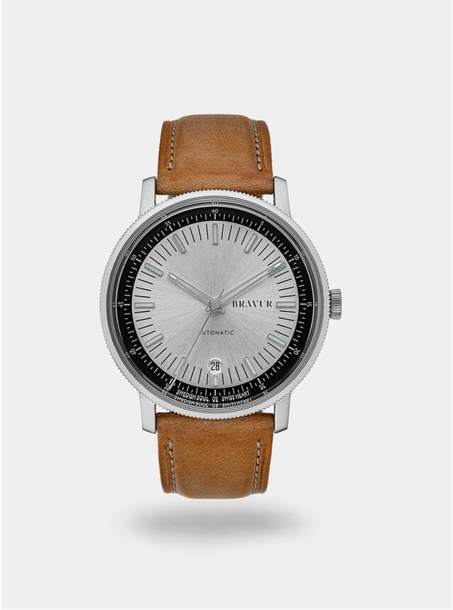 Silver / Tan BW003 Watch