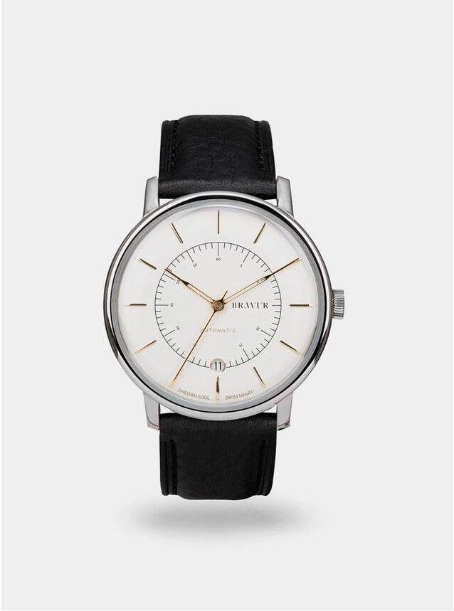 Sparkling White / Black Scandinavia Watch