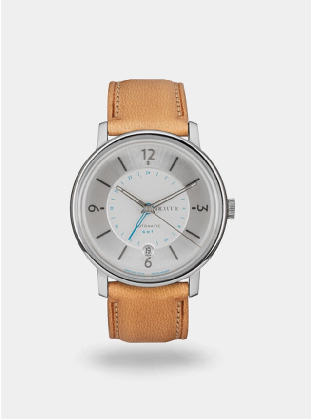 Sparkling White  / Tan Georgraphy Watch