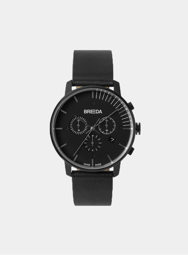 Black / Black Phase Chronograph Watch