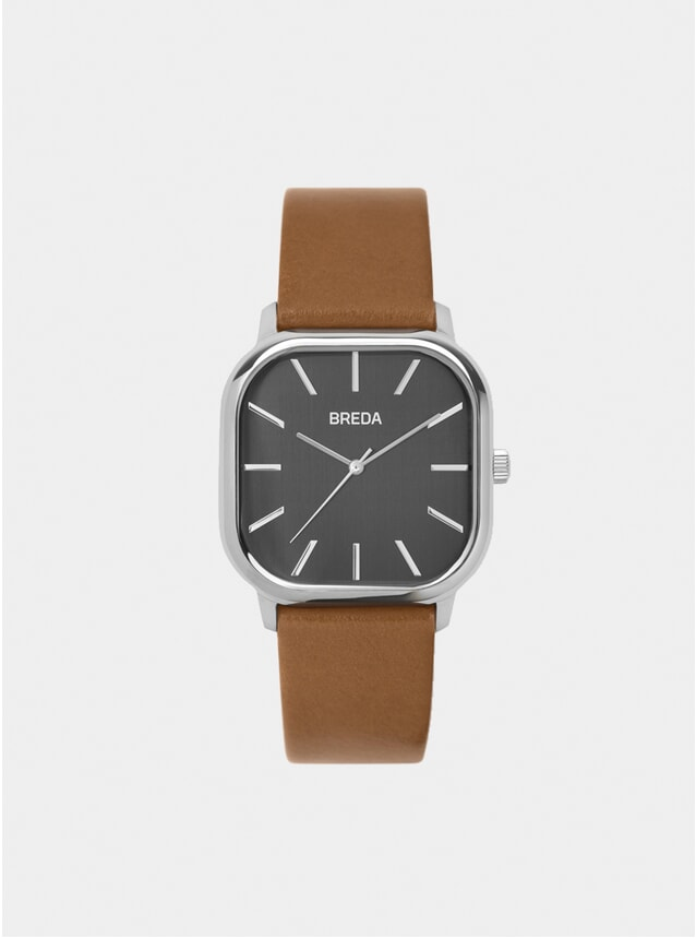 Silver / Brown Visser Watch