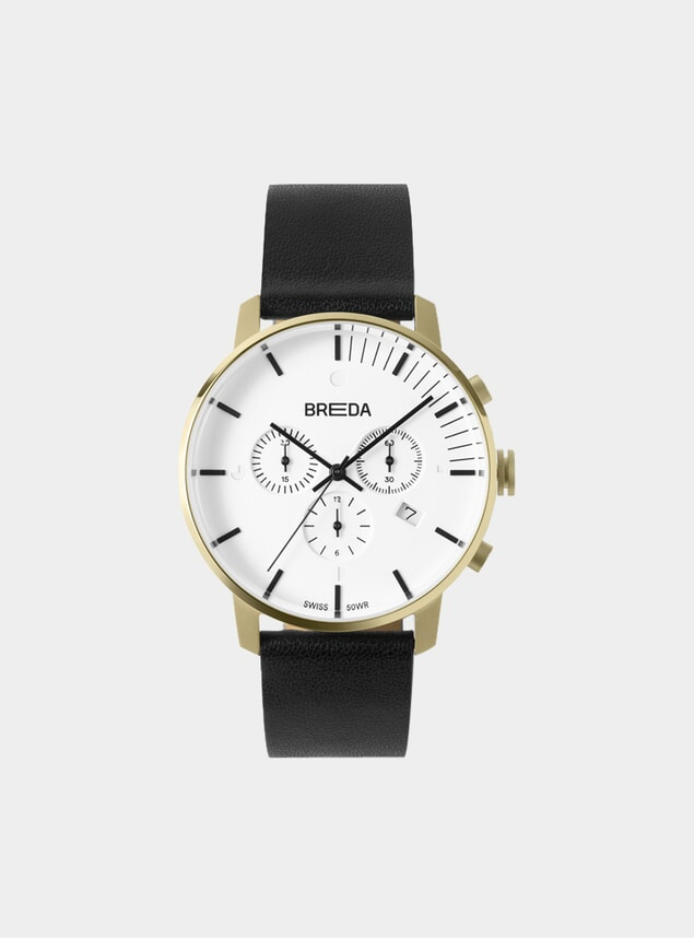Gold / Black Phase Chronograph Watch