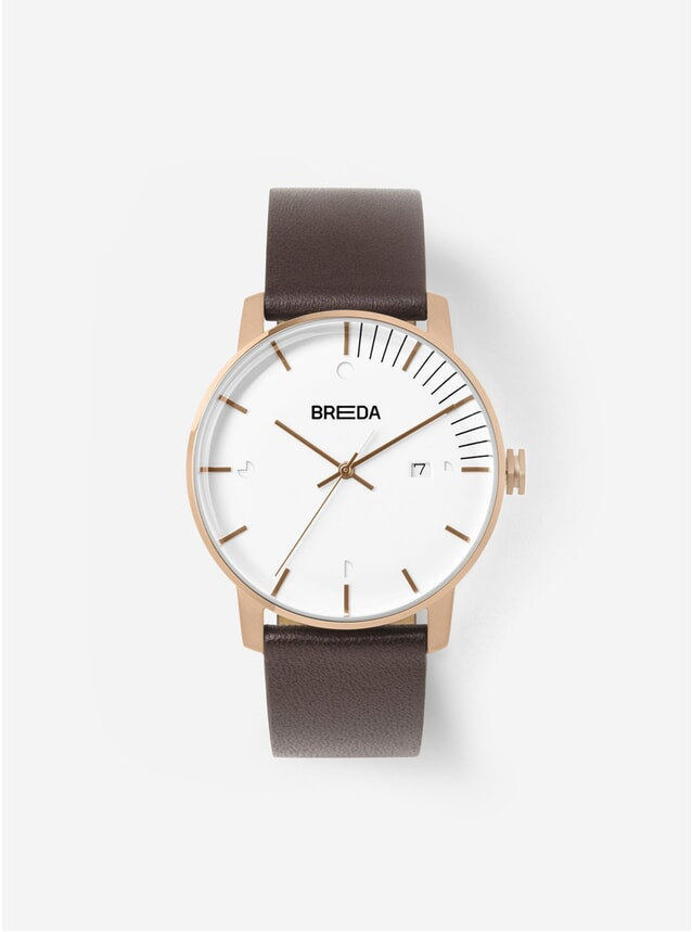 Rose Gold Brown Phase Watch