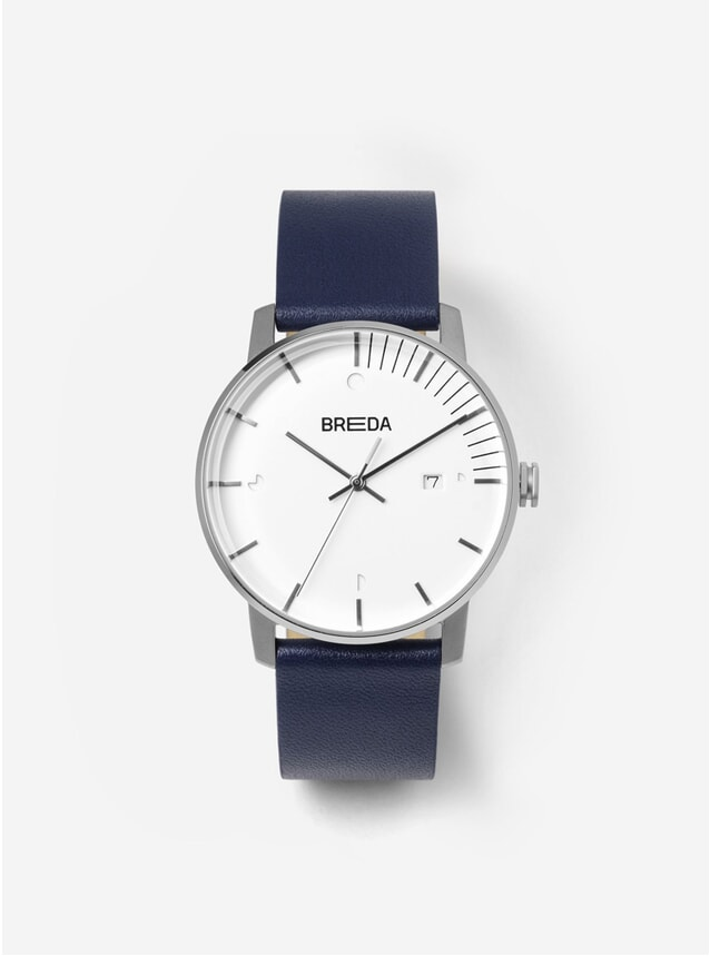 Silver Navy Phase Watch