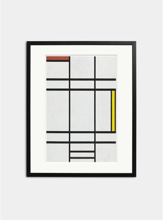 Composition in White, Red and Yellow, 1936 Print