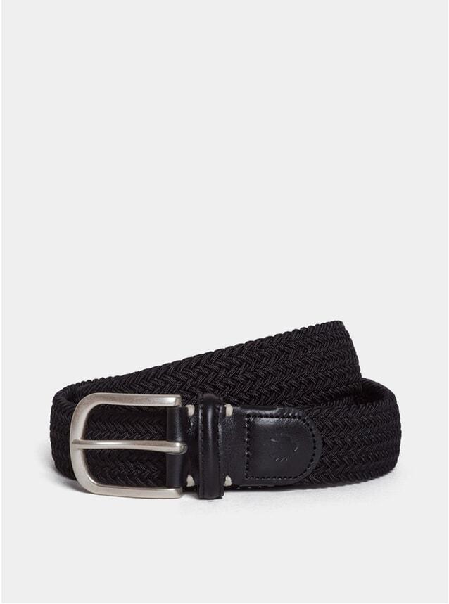 Black / Black Leather Dempster Belt