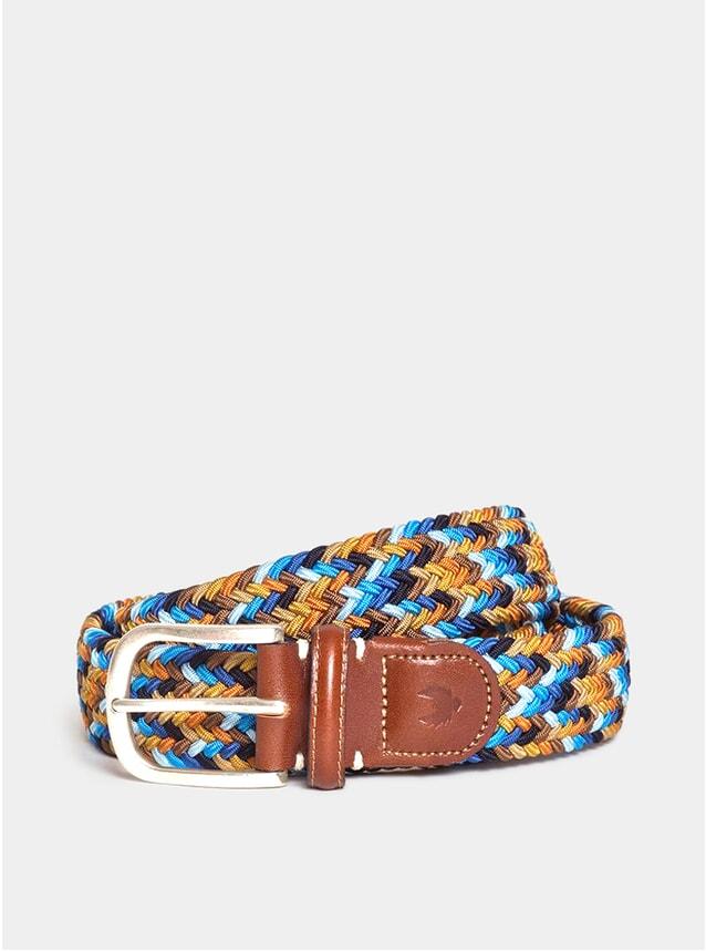 Warm Multi / Birch Leather Cambridge Belt