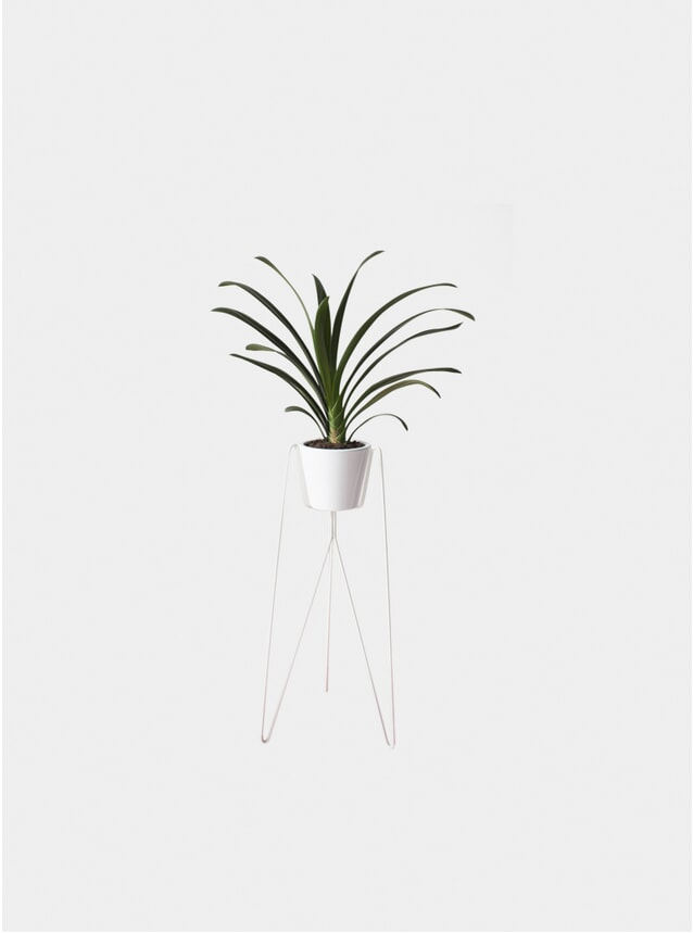 White Bati Plant Stand