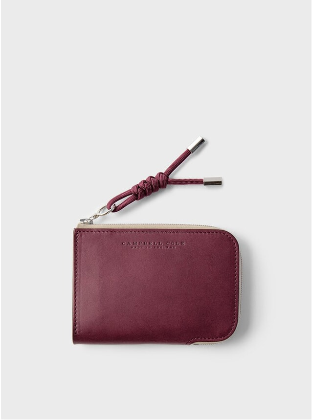 Burgundy Zip Corner Wallet