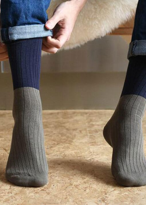 COLOUR BLOCK SOCKS