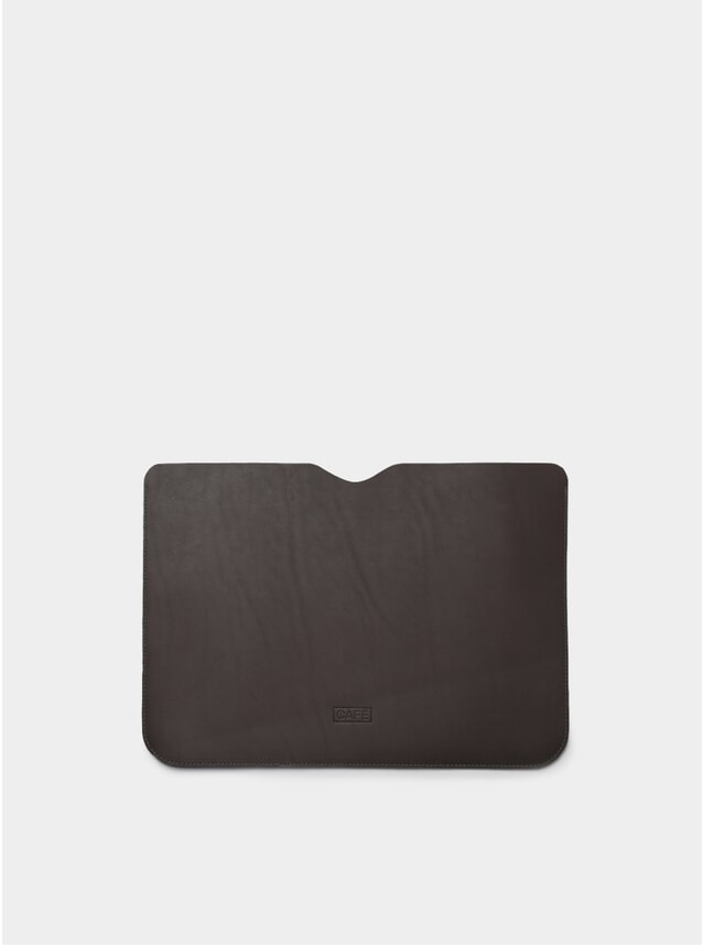 "13"" Black Coffee Leather Macbook Sleeve"