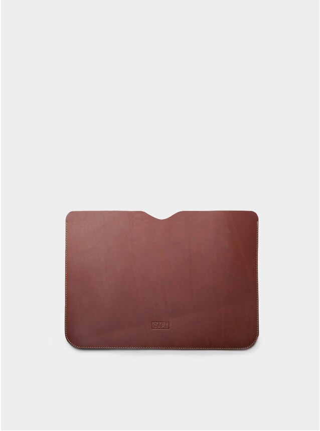 "13"" Brown Leather Macbook Sleeve"