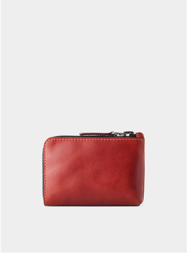 Berry Leather Osaka Zip Wallet