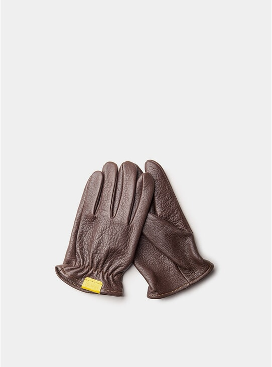 Black Coffee Leather Rascal Gloves
