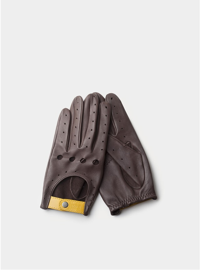 Black Coffee Triton Driving Gloves