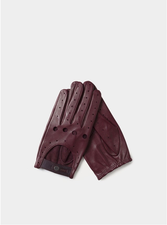 Burgundy Triton Driving Gloves
