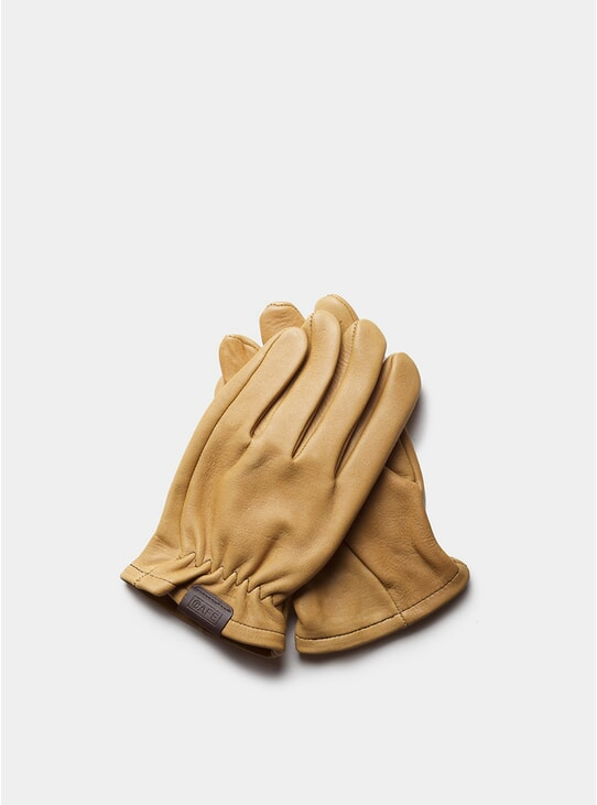 Cream Leather Rascal Gloves