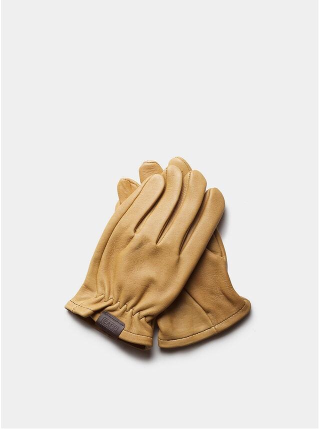 Cream Leather Rascal Gloves