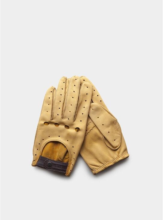 Cream Triton Driving Gloves
