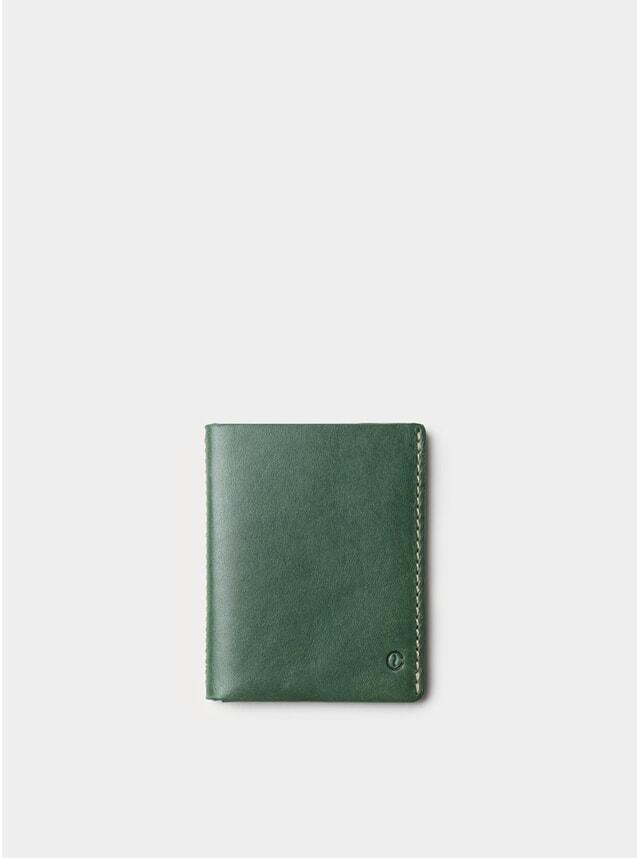 Green Ultra Slim Leather Wallet