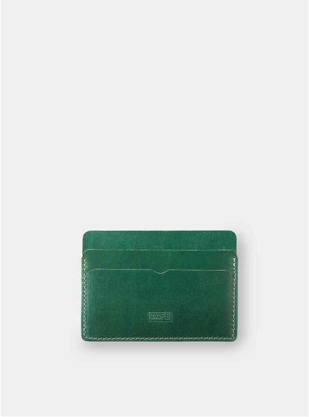 Greenery Panama+ Leather Card Holder