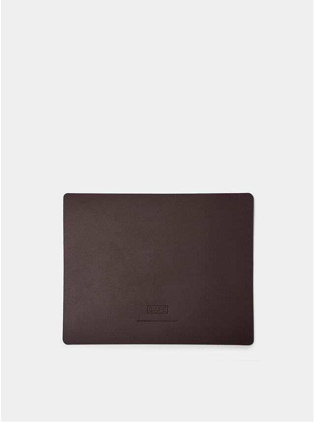 Large Black Coffee Leather Uyuni Mousepad