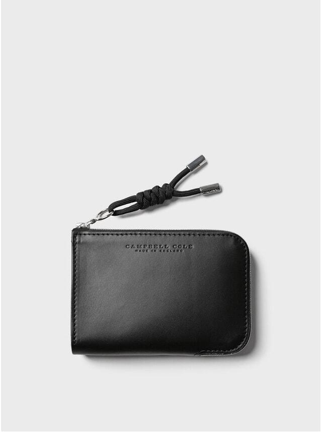 Black Simple Zip Corner Wallet
