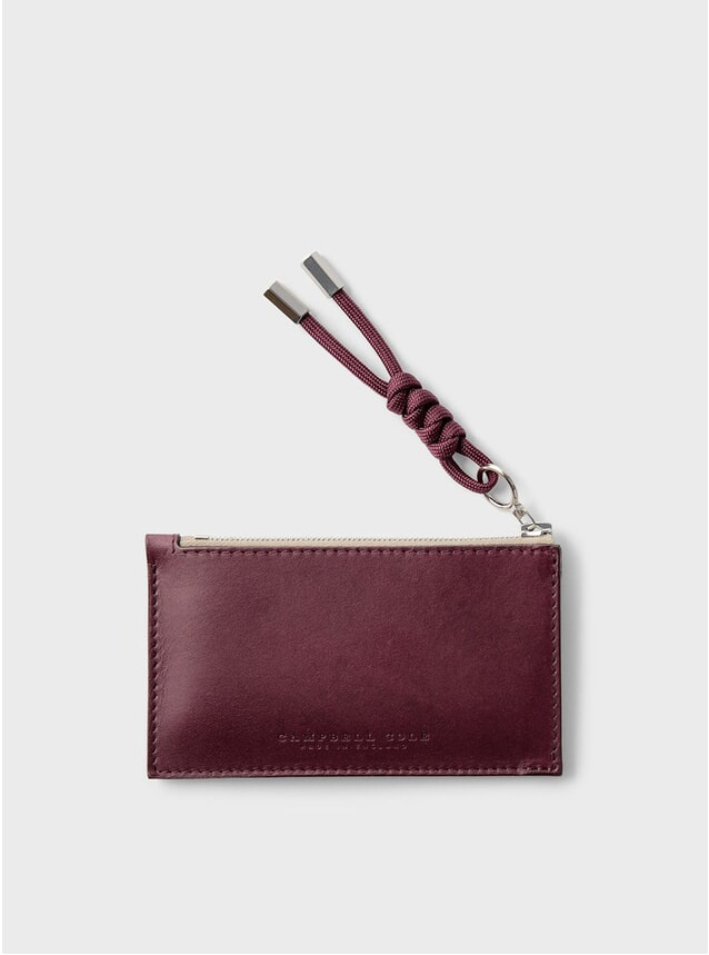 Burgundy Simple Coin Pouch